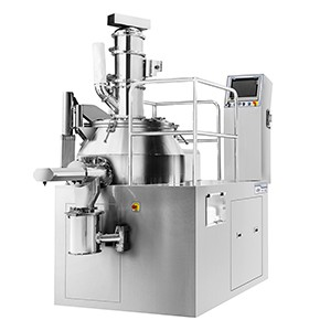 Production high shear mixer granulator